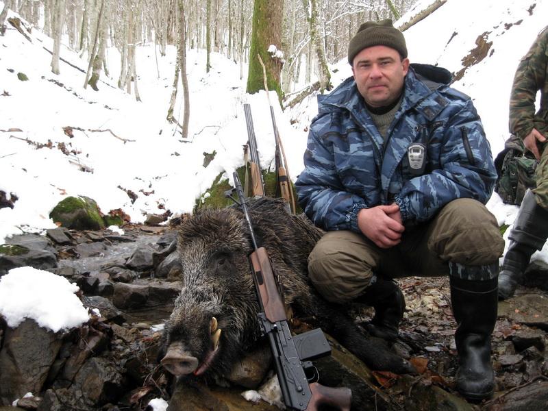 Охота на кабана на Черноморском побережье Северного Кавказа