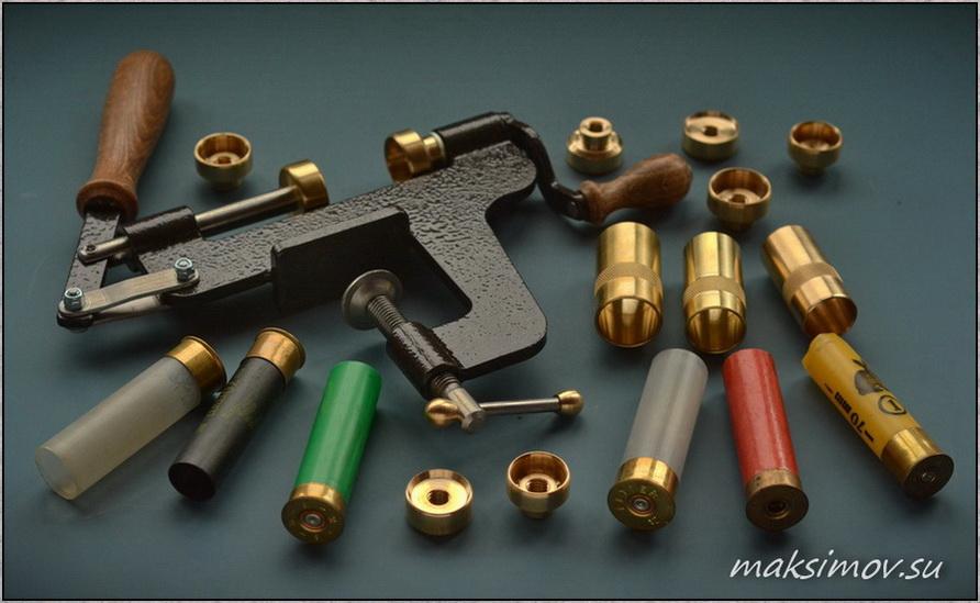 Закрутка стальная настольная и матрицы 12, 16 и 20 калибров