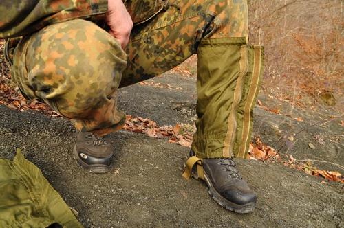 Конструкция гамаш позволяет подогнать их под любой размер обуви.